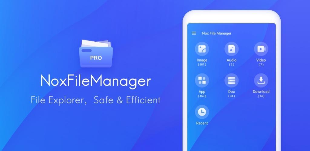 """دانلود Nox File Manager file explorer, safe & efficient فایل منیجر حرفه ای """"نوکس"""" اندروید"""
