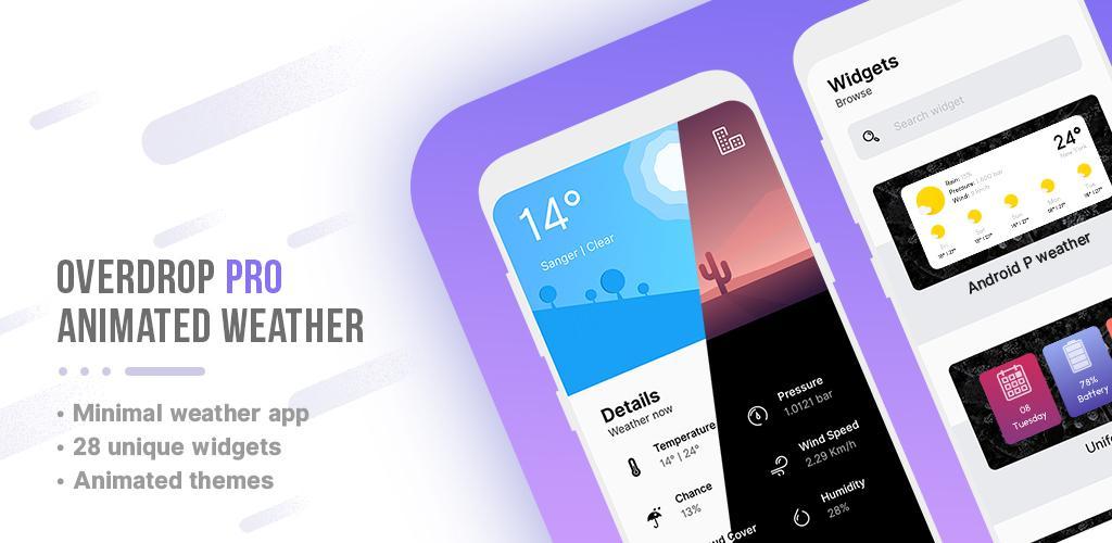 دانلود verdrop Pro – Animated Weather & Widgets هواشناسی دقیق اندروید!