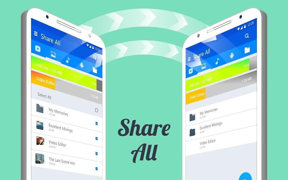 دانلود Share ALL : File Transfer & Share with EveryOne برنامه اشتراک گذاری آفلاین اندروید