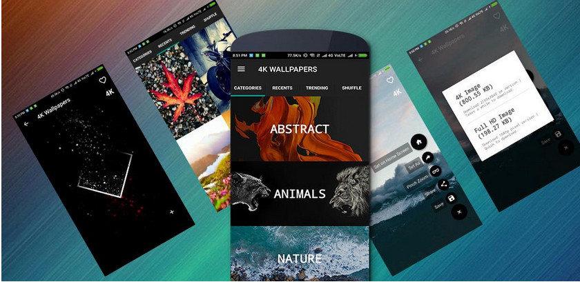 دانلود 4K Wallpapers – Auto Wallpaper Changer _ مجموعه والپیپر با کیفیت و زیبای اندروید