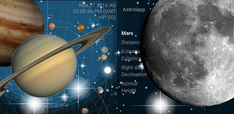 دانلود Astrolapp Planets and Sky Map برنامه نقشه آسمان و سیارات مخصوص اندروید !