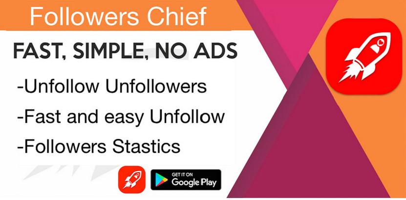 دانلود Followers Chief - برنامه آنفالویاب هوشمند اینستاگرام اندروید