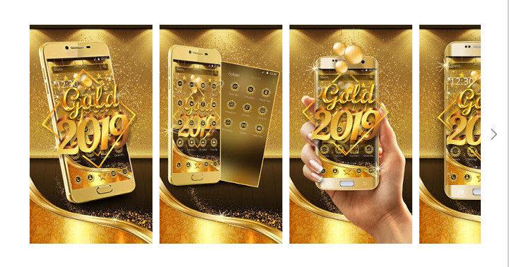 دانلود Luxury Gold 2019 Launcher - لانچر طلایی لوکس 2019 اندروید
