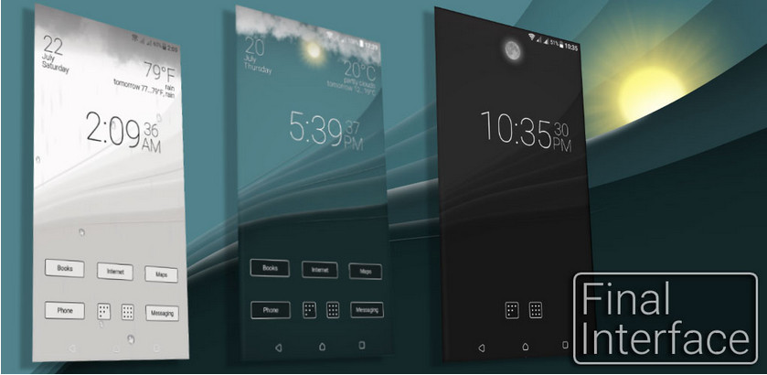 """دانلود Final Interface – launcher + animated weather - لانچر جذاب """"فاینال اینترفیس"""" برای اندروید"""