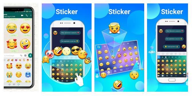 دانلود New 2019 Emoji for Chatting Apps - برنامه ایموجی و استیکر 2019 اندروید