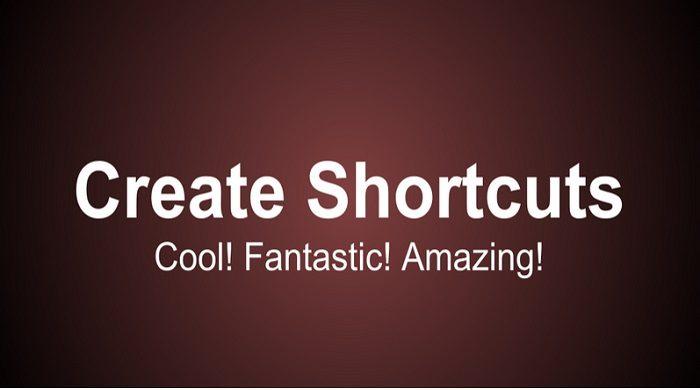 Simple Shortcuts Create Shortcuts 111