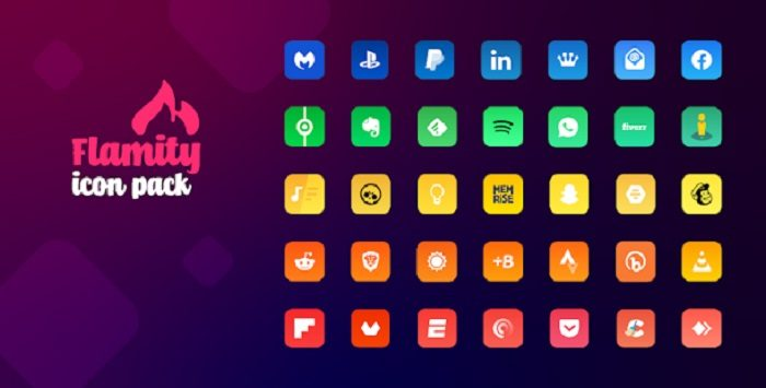 Flamity Square Gradient Icon Pack 6