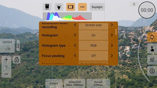 mcpro24fps professional video recording app 5