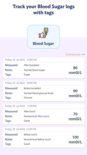 Blood Sugar Log 4