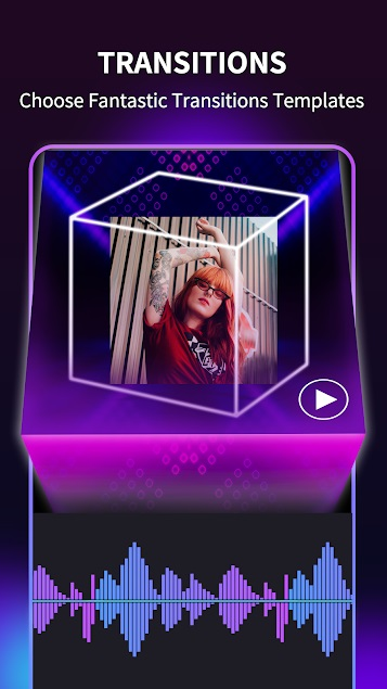 Music Video Maker with neon photo Effects 3