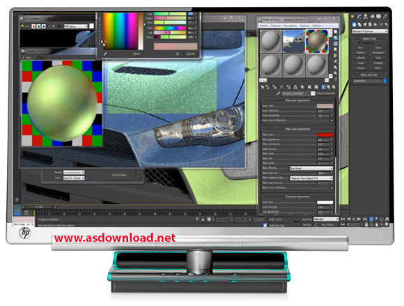 دانلود فیلم آموزش نرم افزار 3ds max 2013 - رنگ آمیزی ماشین