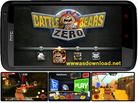 دانلود بازی دو نفره نبرد خرس ها برای آندروید Battle Bears Zero + دیتا