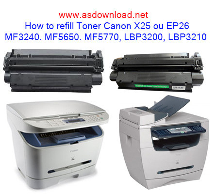 How to refill Toner canon MF3240, MF5650, MF5770
