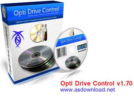 دانلود نرم افزار Opti Drive Control v1.70 - تست دیسک cd , dvd
