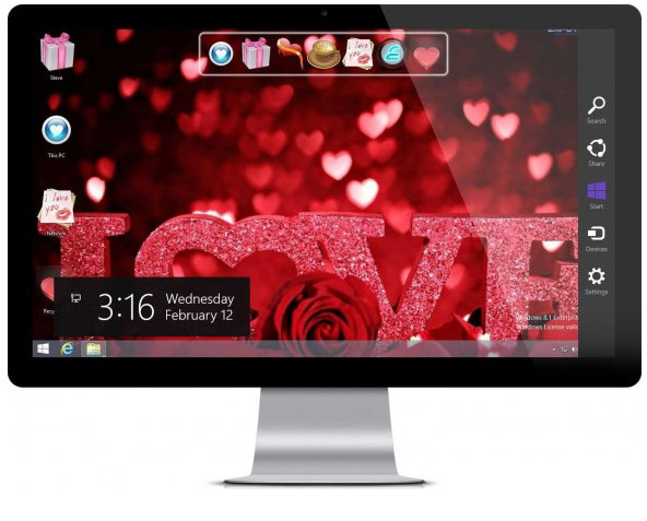 Valentine Day Theme windows 7, 8