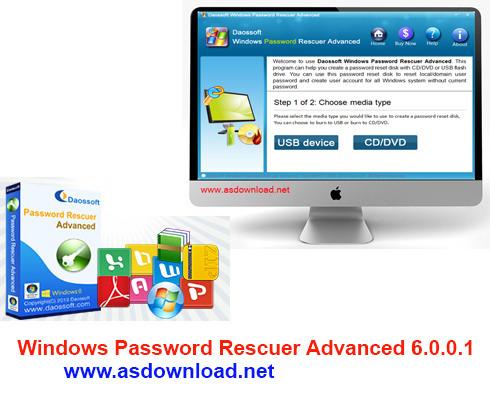 Windows Password Rescuer Advanced 6.0.0.1-نرم افزار هک و بازیابی پسورد ادمین ویندوز 8