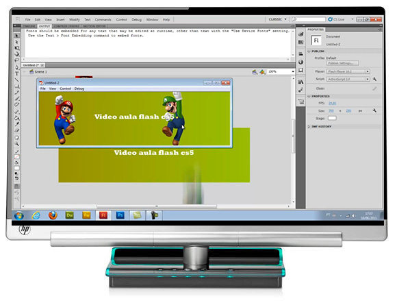 banner animation in flash cs5