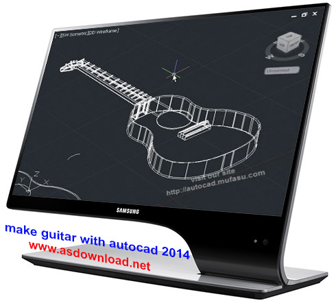 make guitar with autocad 2014