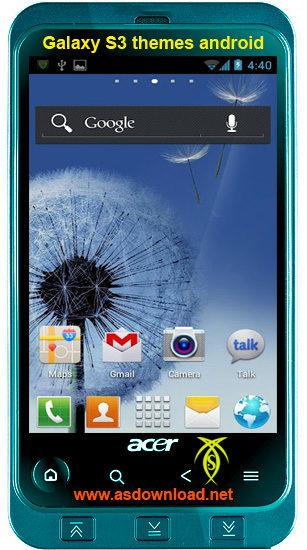 دانلود تم Galaxy S3 برای آندروید