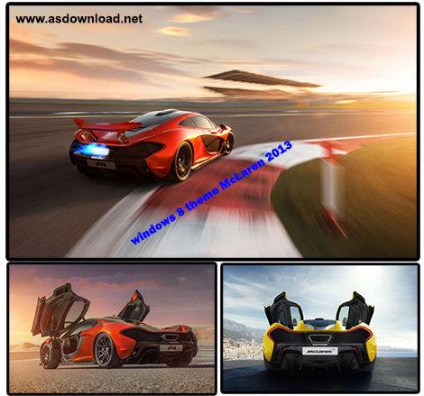 دانلود تم ماشین 2013 McLaren برای ویندوز 8